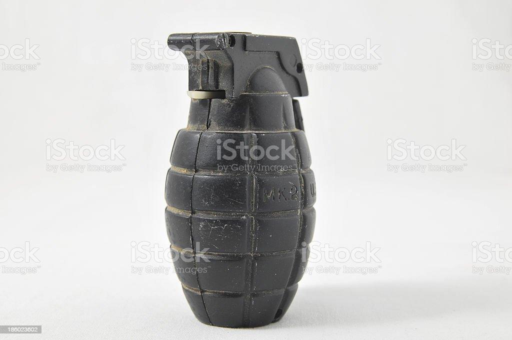 Black Hand Grenade stock photo