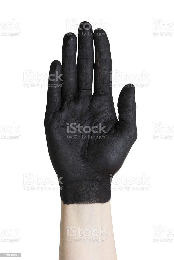 black hand royalty-free stock photo