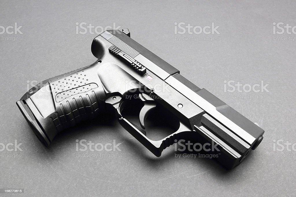 Black handgun royalty-free stock photo