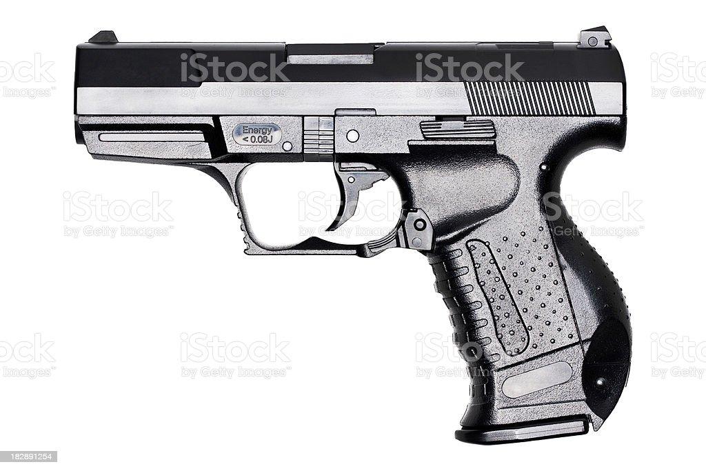 black handgun stock photo