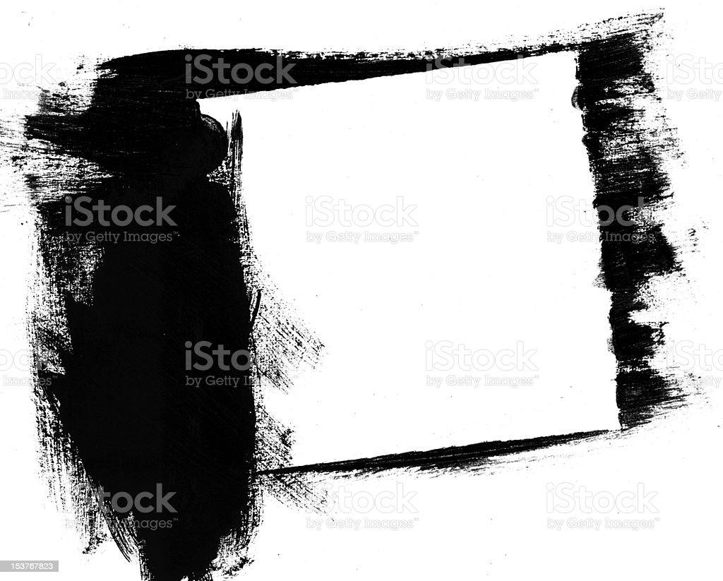 black handprinted frame royalty-free stock photo