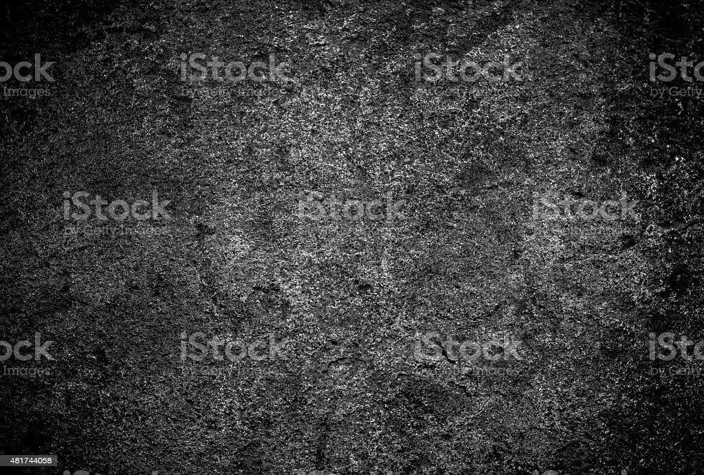 black hard stone texture background stock photo