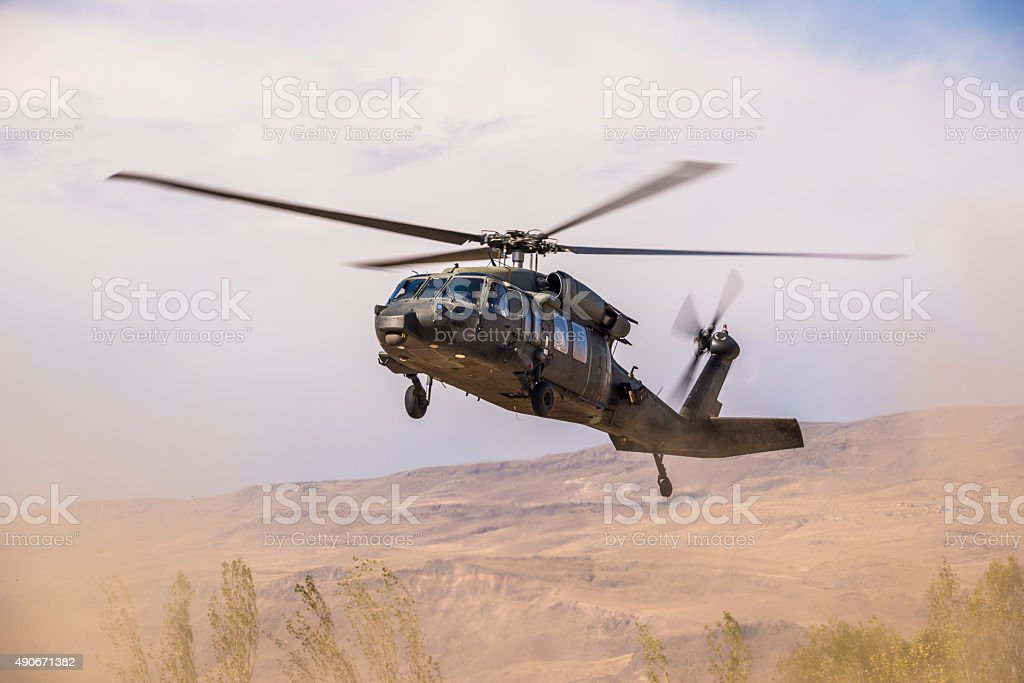 UH-60 Black Hawk Military Helicopter stock photo
