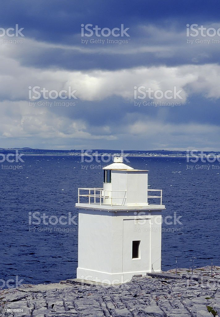 Black Head Lighthouse on the Western Ireland Coast royalty-free stock photo