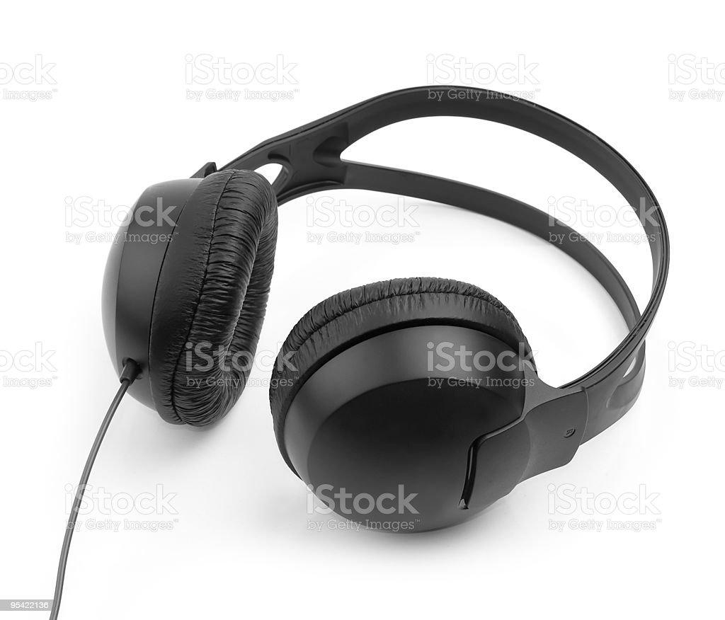 black headphones royalty-free stock photo