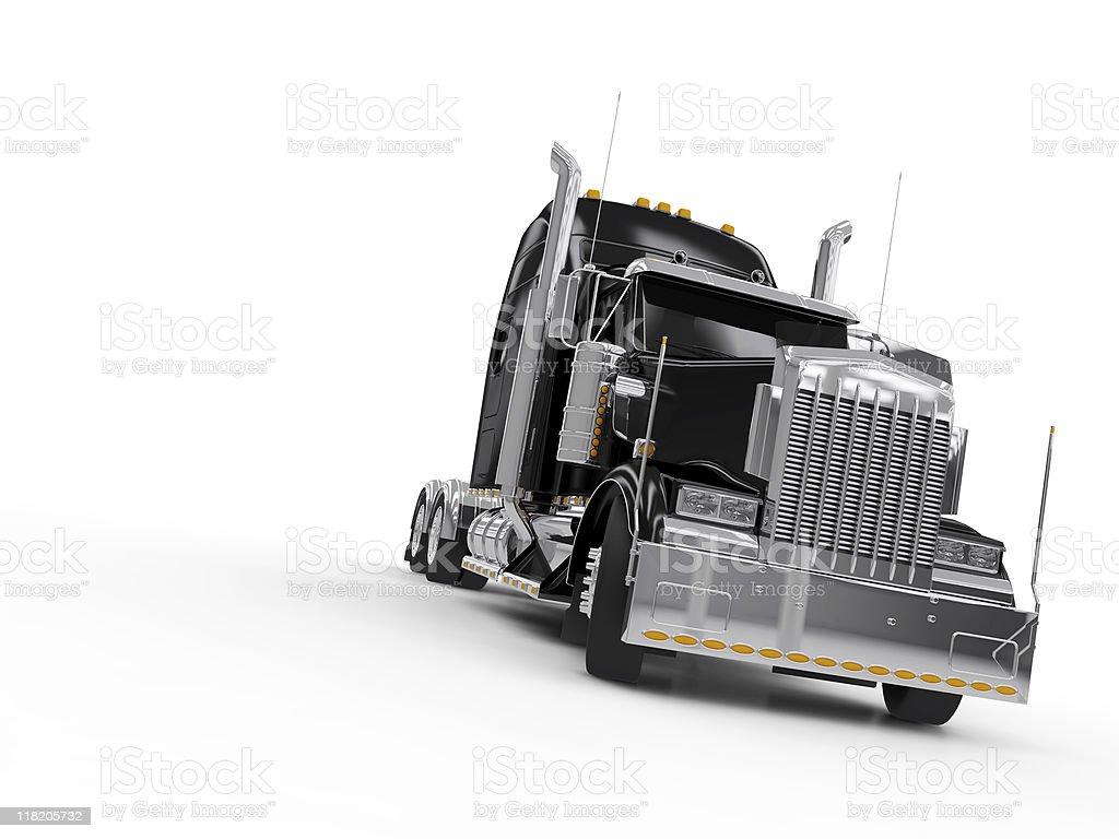 Black heavy truck stock photo