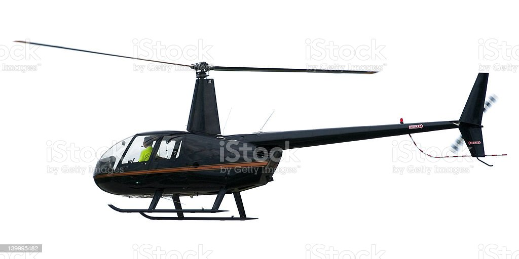 Black helicopter royalty-free stock photo