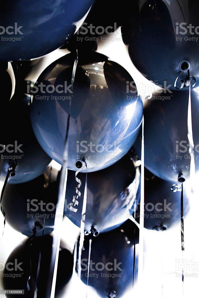 Black helium balloons royalty-free stock photo