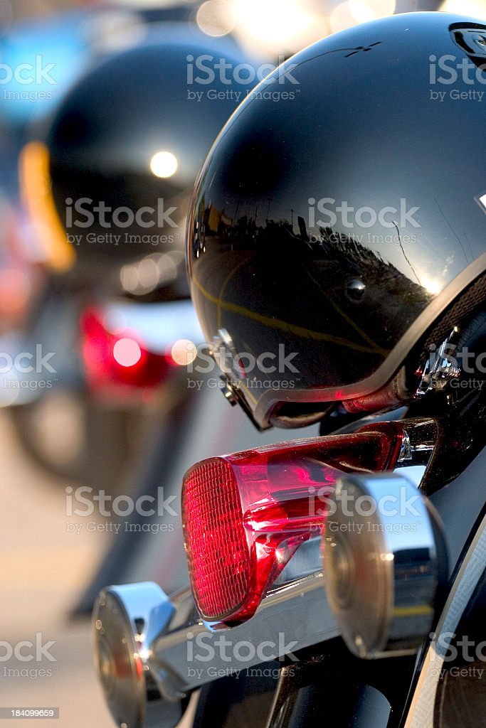 Black Helmets royalty-free stock photo
