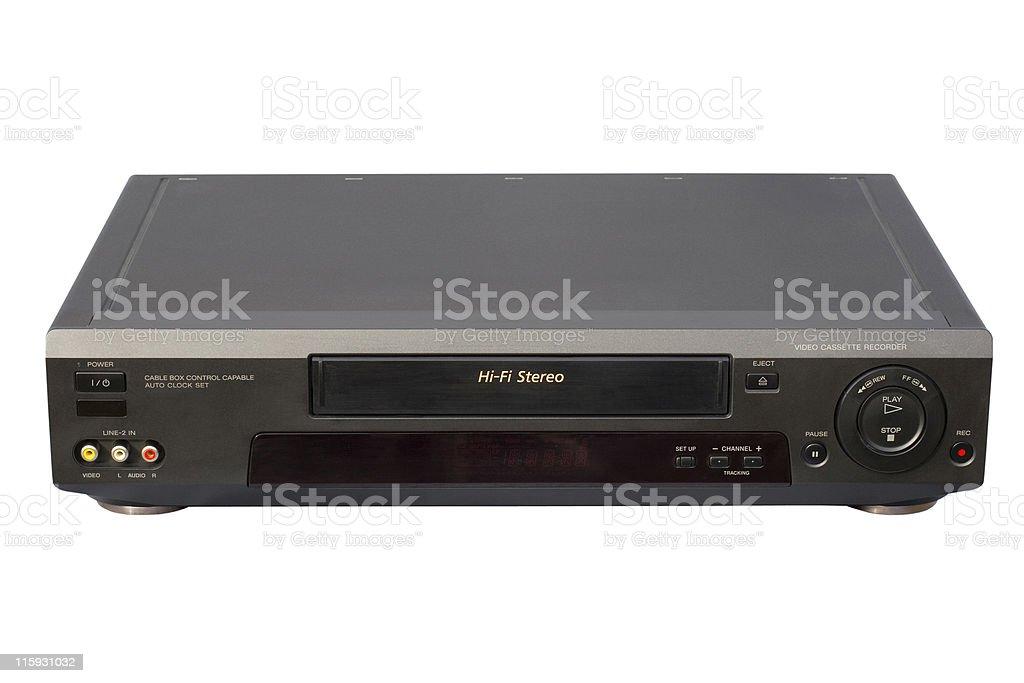 Black Hi-Fi VCR stock photo