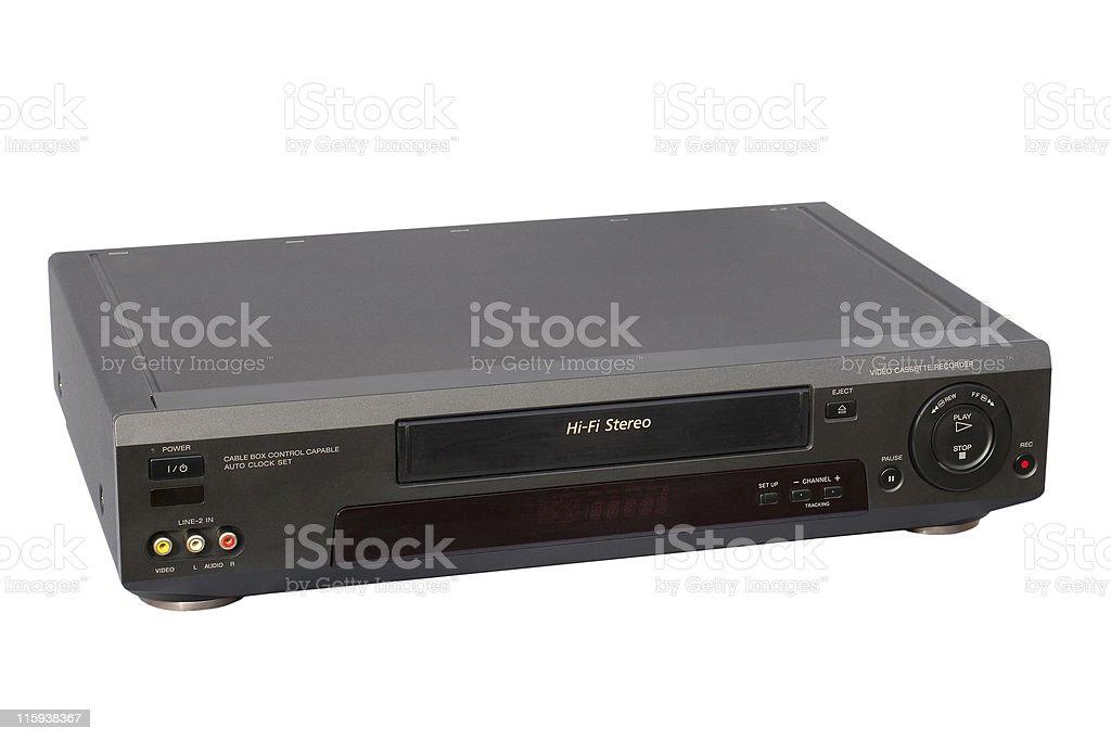 Black Hi-Fi VCR royalty-free stock photo