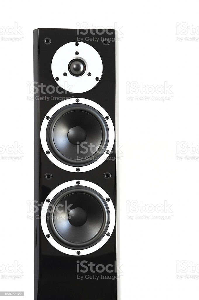 Black high gloss music speakers royalty-free stock photo