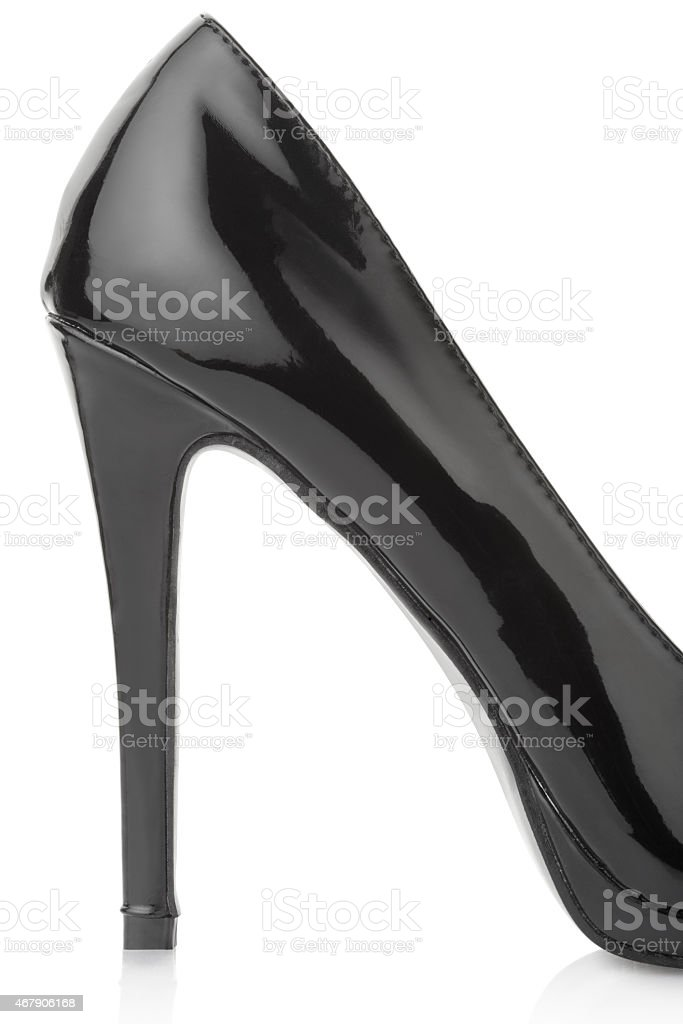 Black high heel shoe for woman stock photo