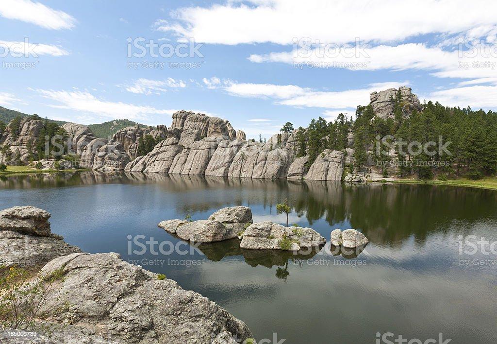 Black Hills landscape with a lake; South Dakota royalty-free stock photo