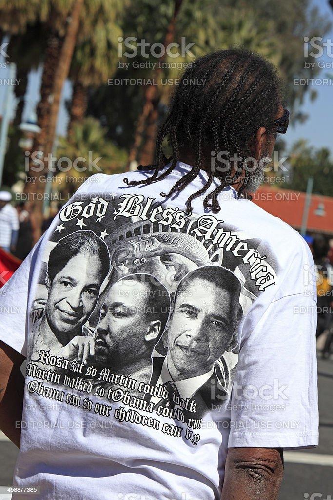 Black History Month T Shirt At The Parade stock photo