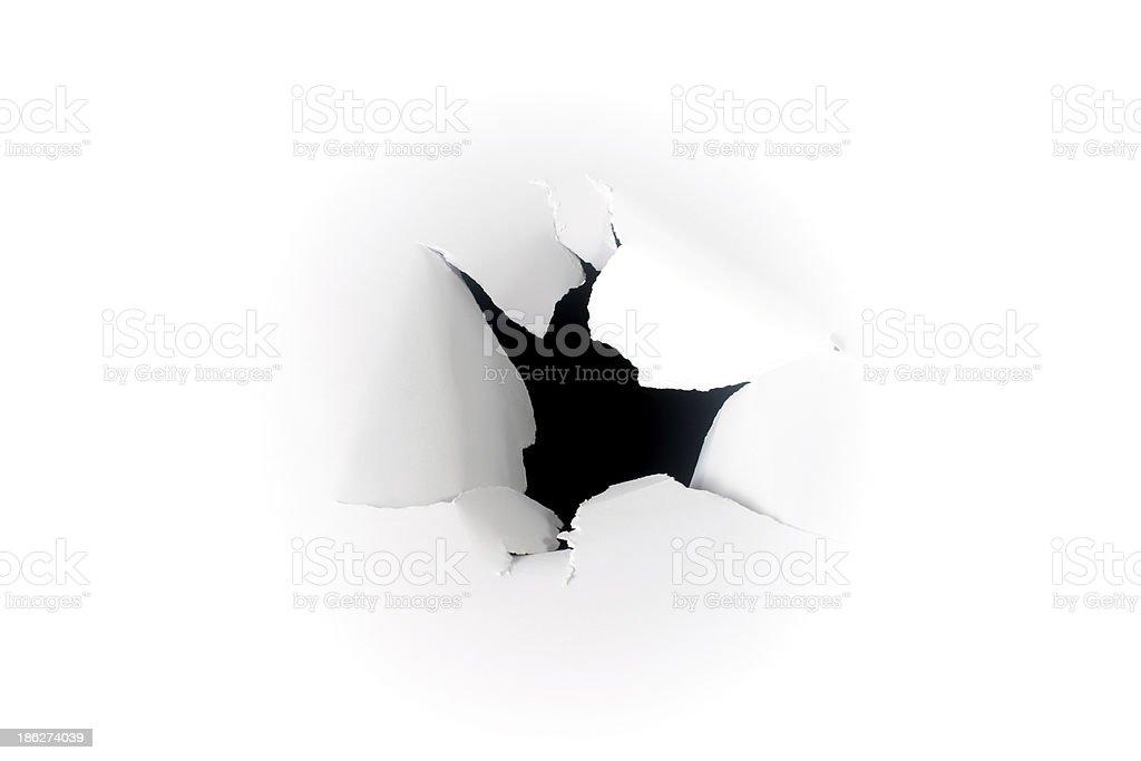 Black hole on white background