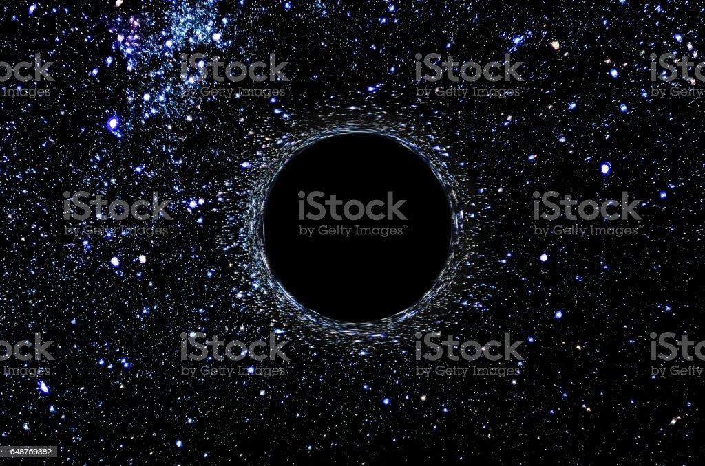 digitally created representation of a black hole
