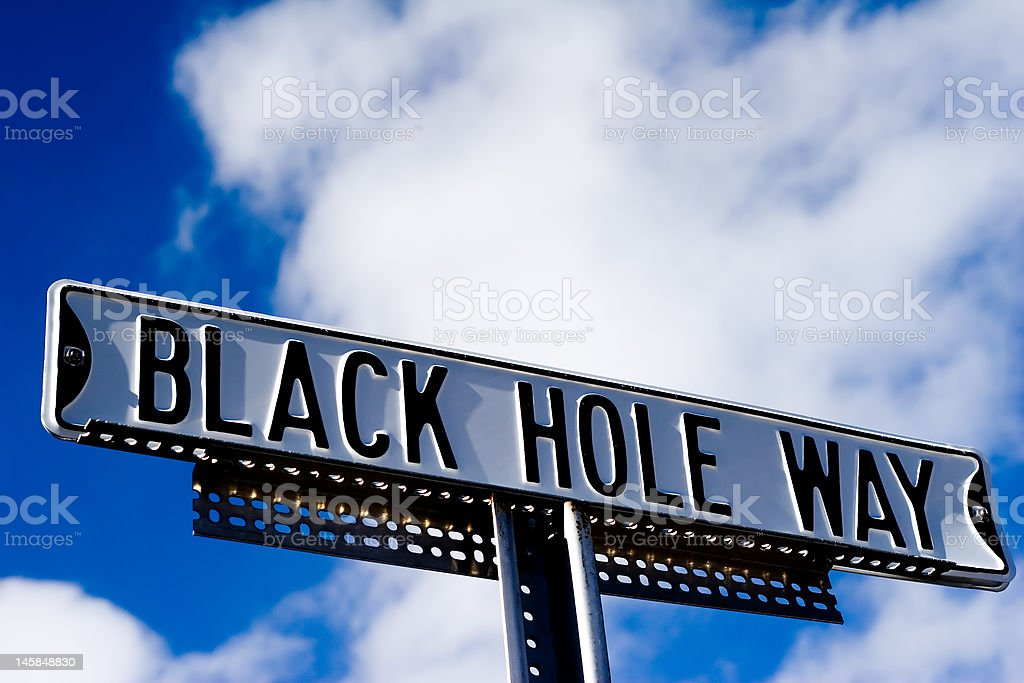 black hole way sign royalty-free stock photo