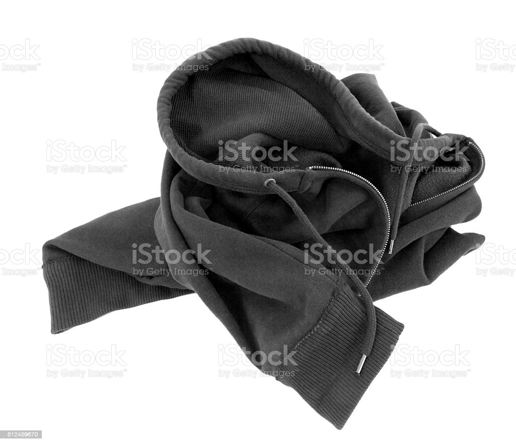 Black Hoodie Tossed into a Heap stock photo