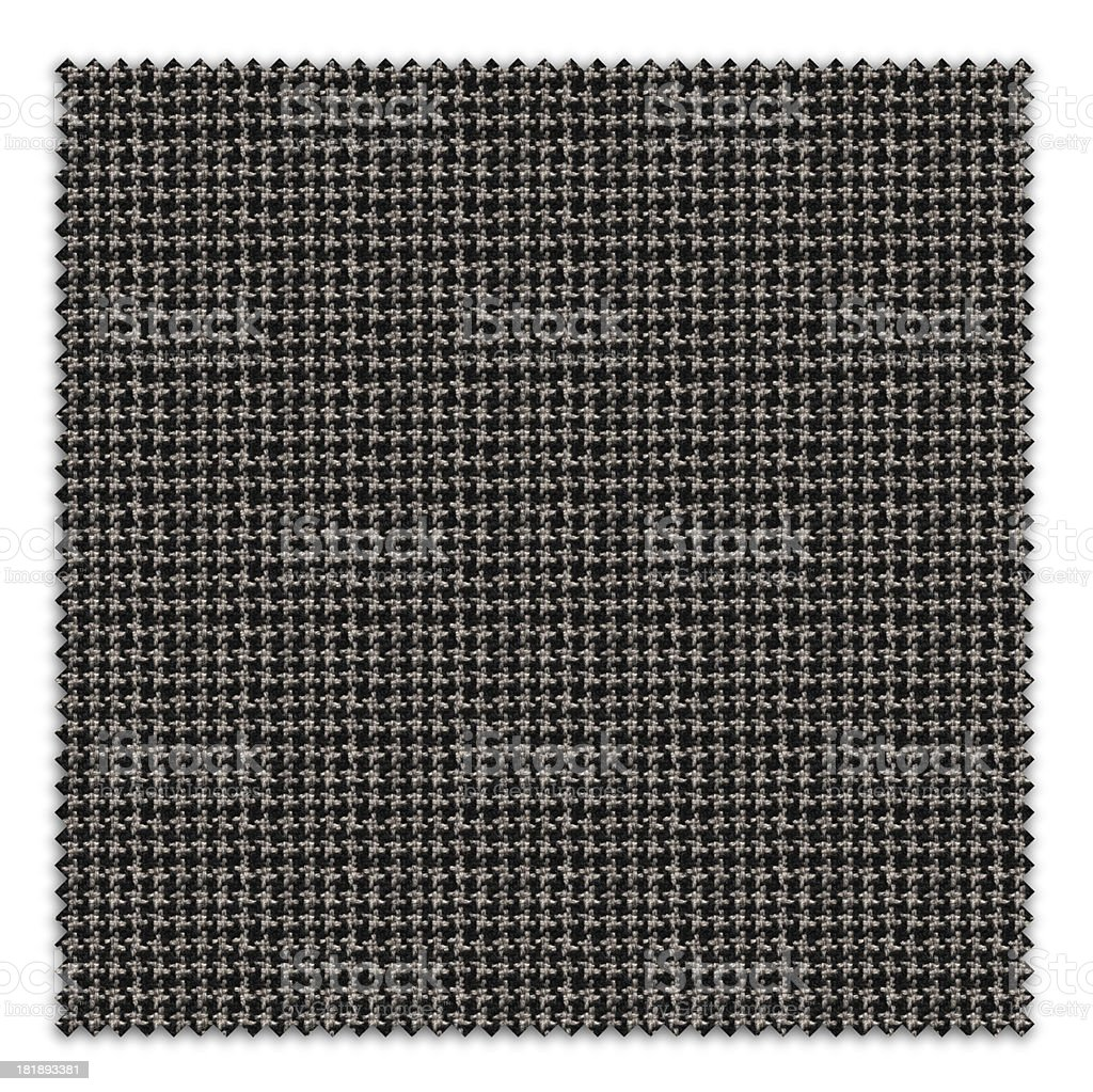 Black Houndstooth Textile Swatch royalty-free stock photo