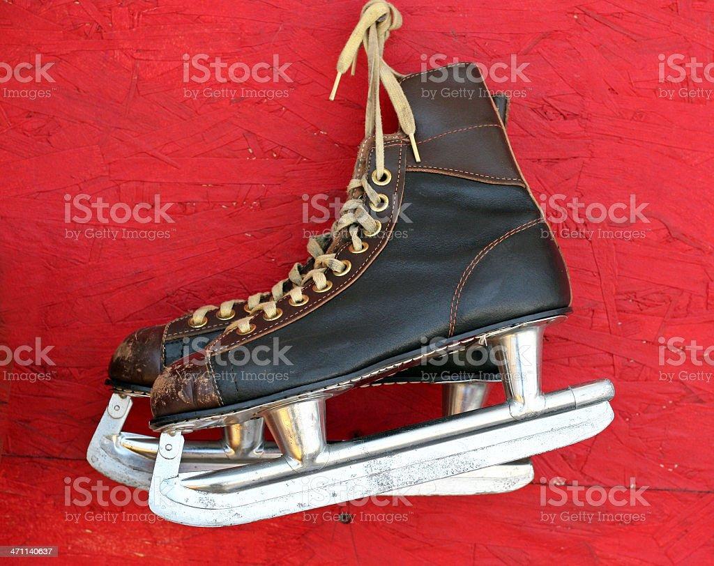 Black Ice Skates royalty-free stock photo