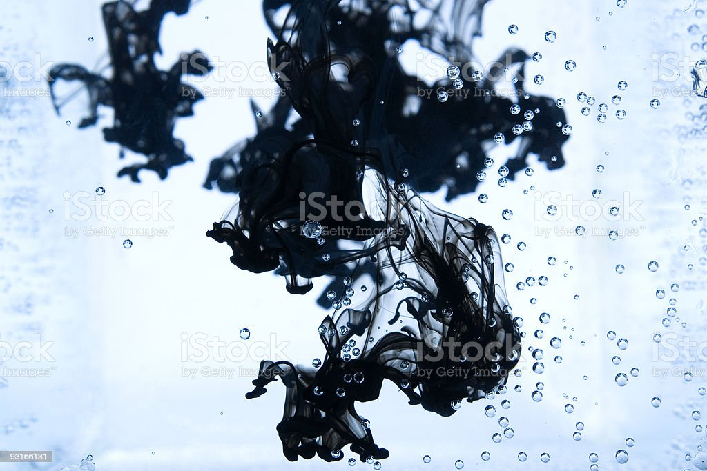 Black Ink drops royalty-free stock photo