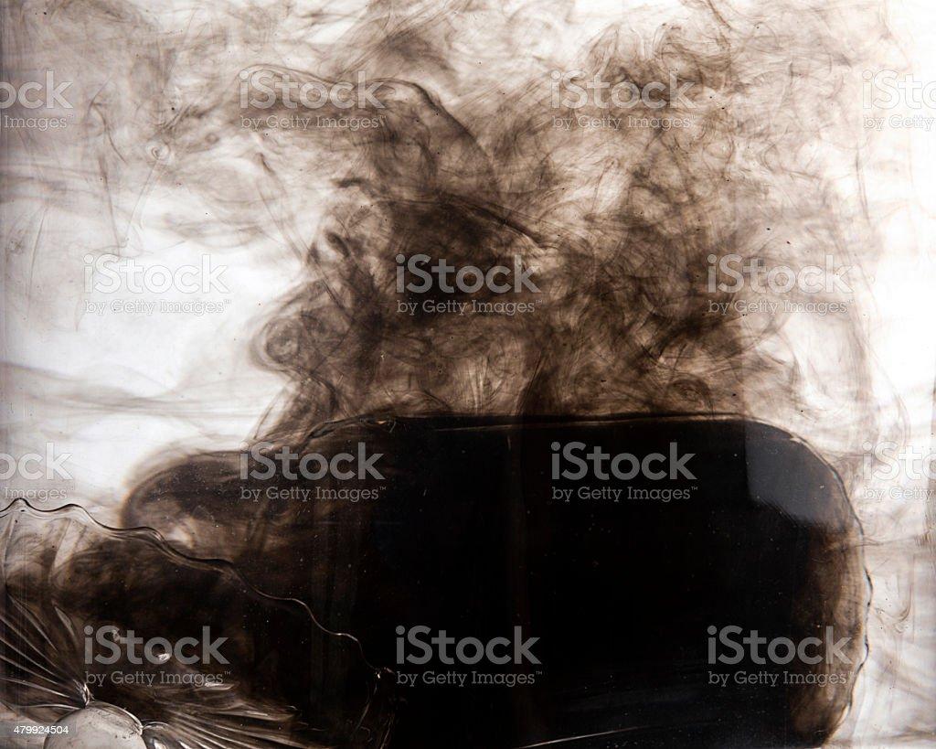 Black Ink in Water, Smoke Effect stock photo