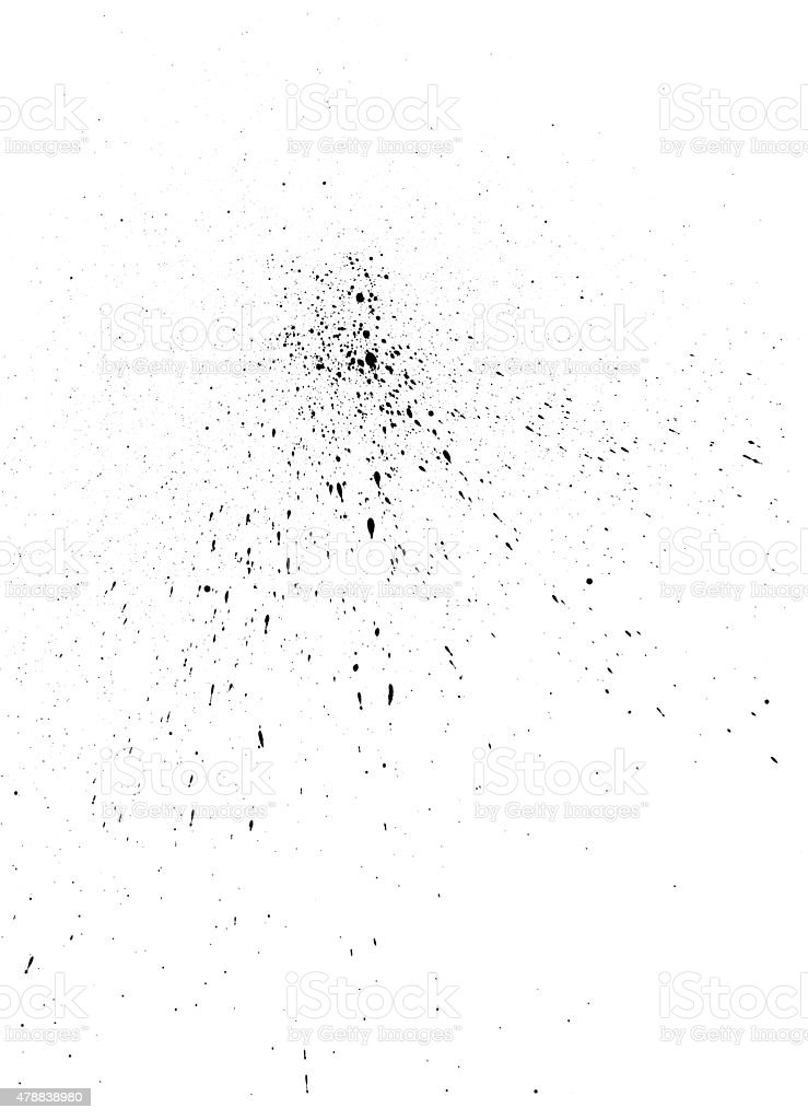 Black ink spray texture stock photo