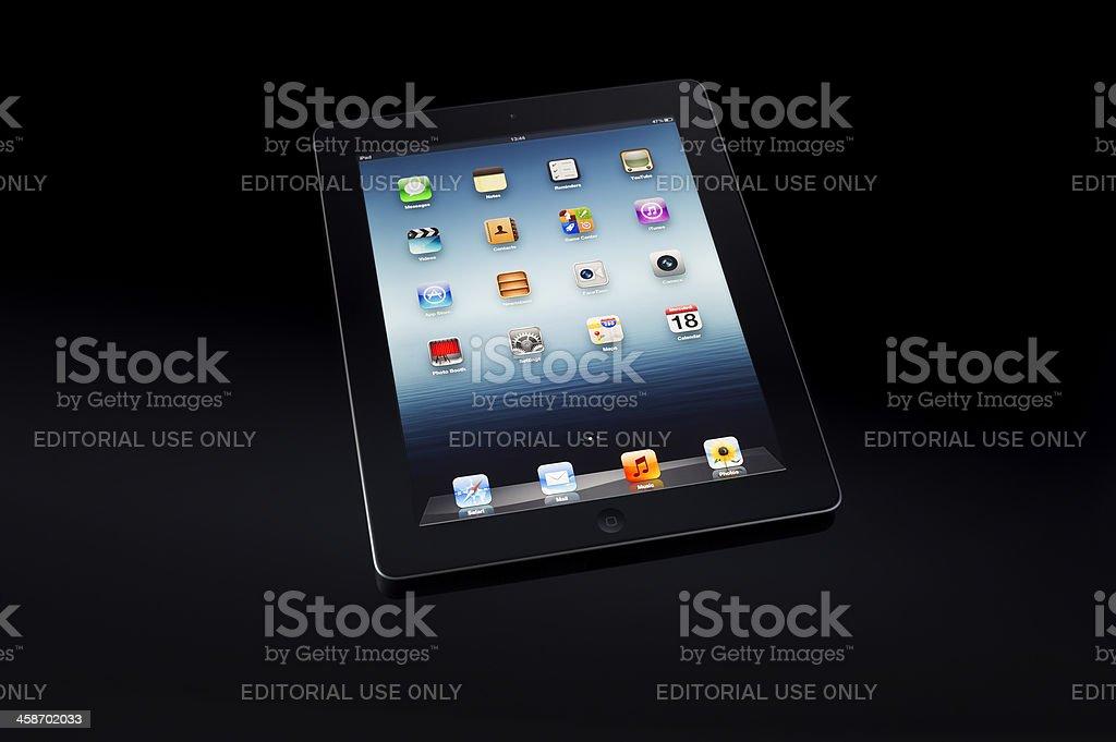 Black ipad3 royalty-free stock photo