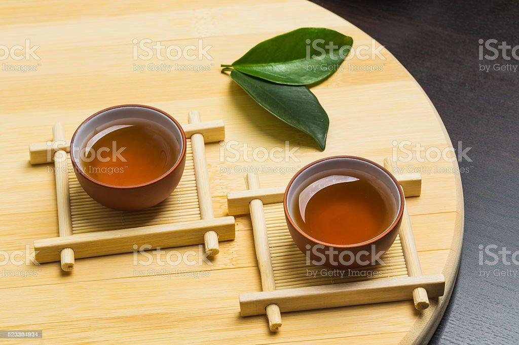 Black iron asian tea set,vintage style stock photo