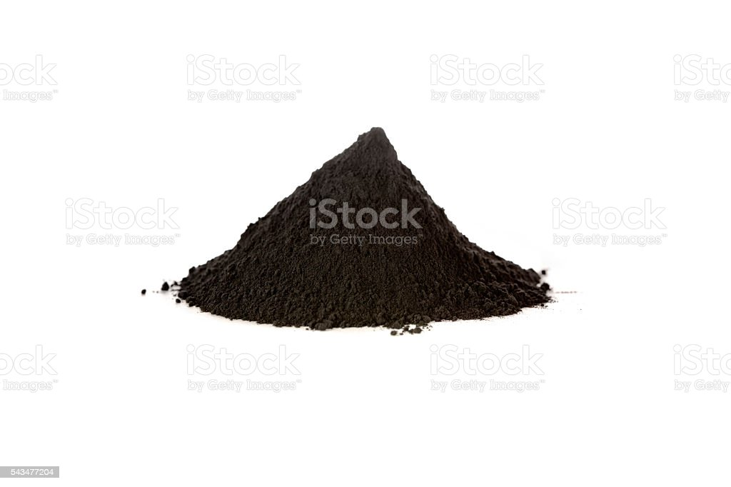 Black iron oxide, magnetite stock photo