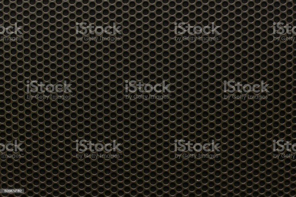 Black iron speaker grid texture, seamless pattern stock photo