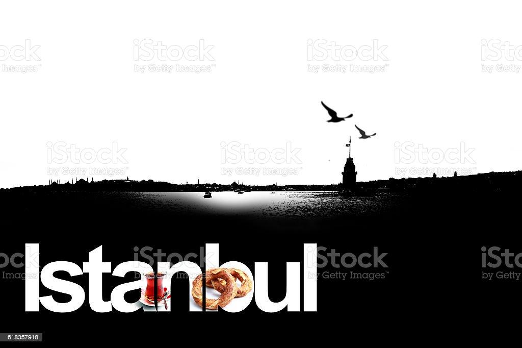 black istanbul stock photo