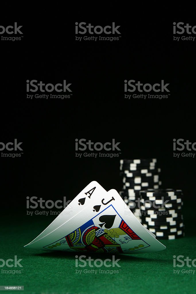 Black Jack stock photo