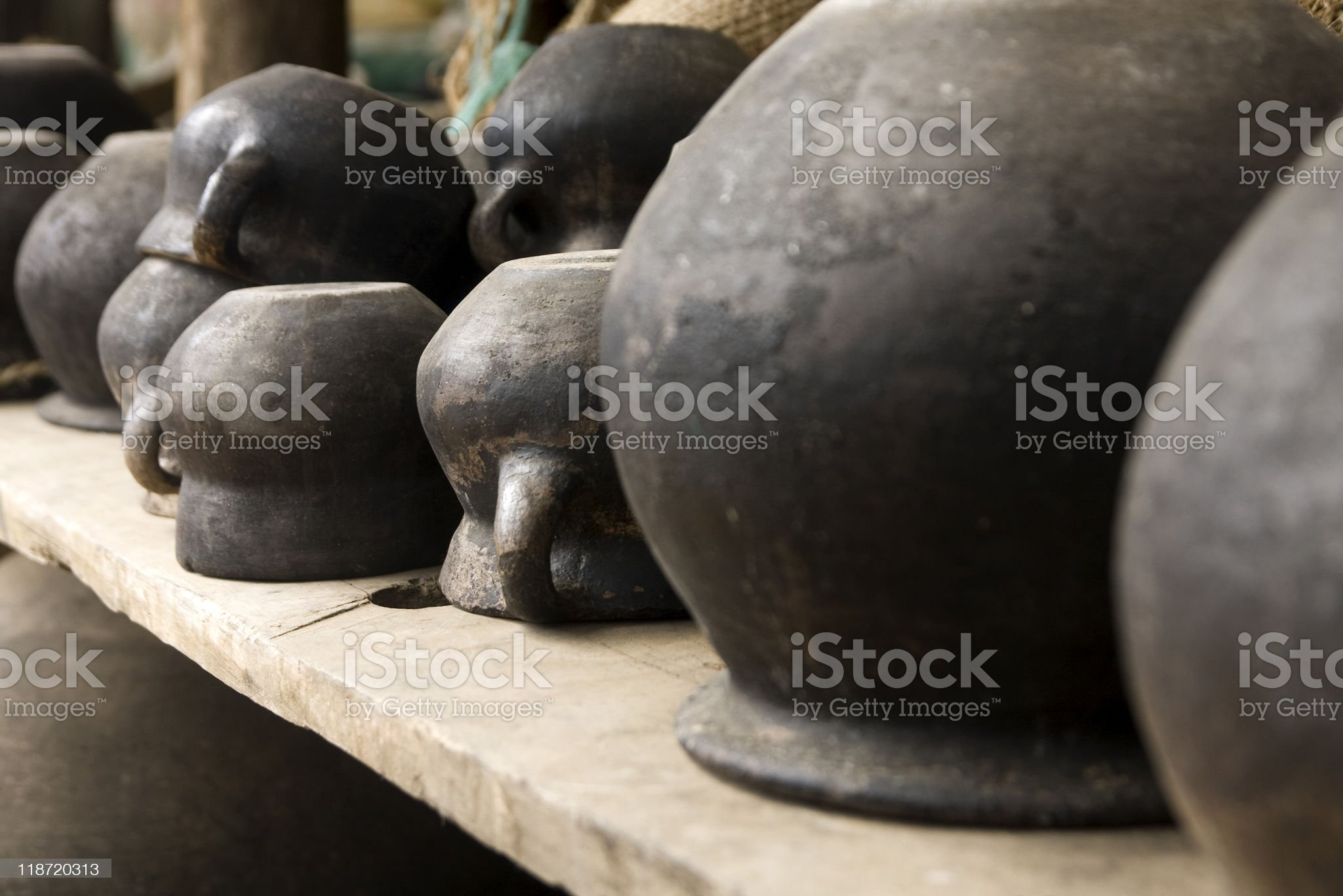 Black Jars in Chiapas royalty-free stock photo