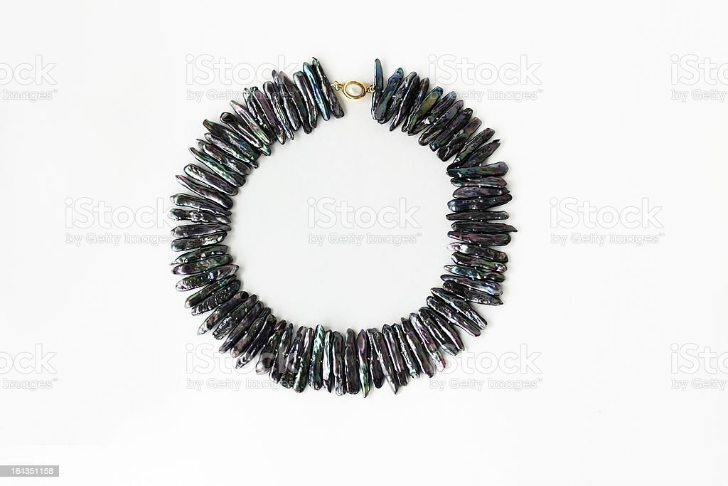 Black Keshi Pearl Jewelry stock photo