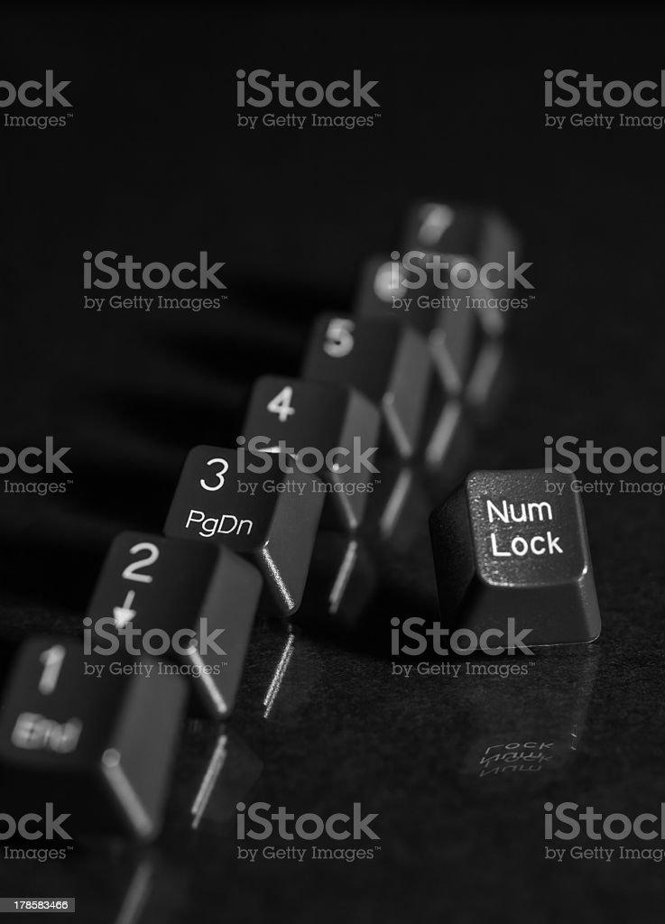 black key board keys royalty-free stock photo