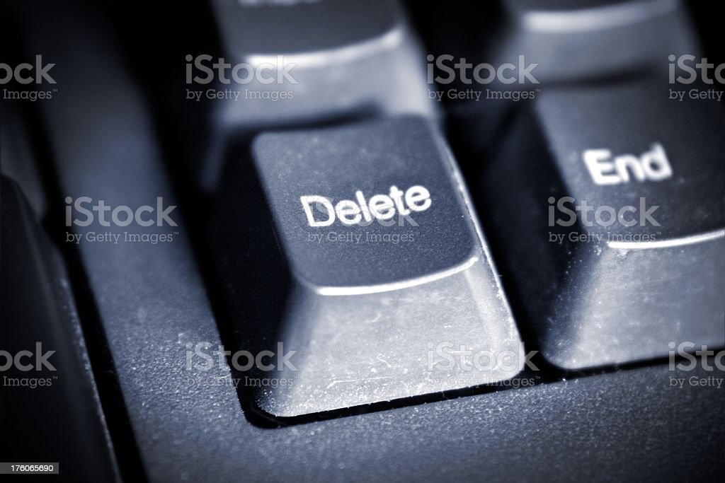 black keyboard Delete and End button stock photo