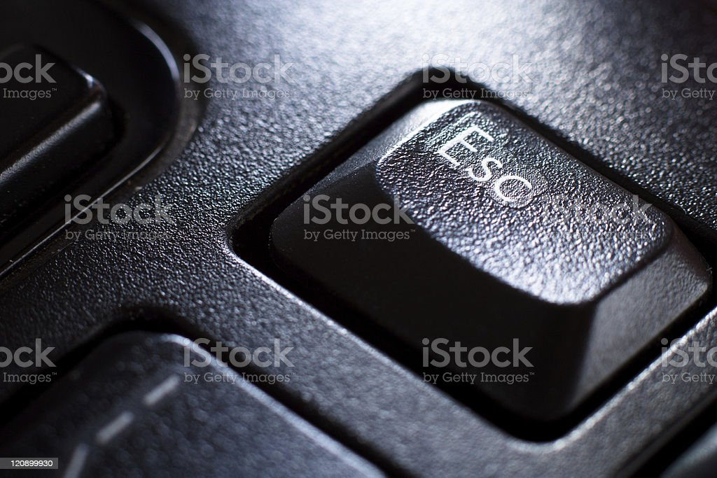 "Black Keyboard, ""Esc"" Key royalty-free stock photo"