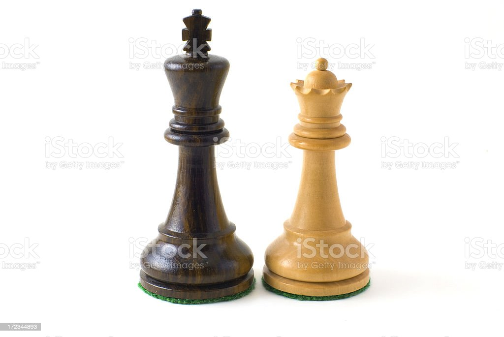 Black King and White Queen royalty-free stock photo