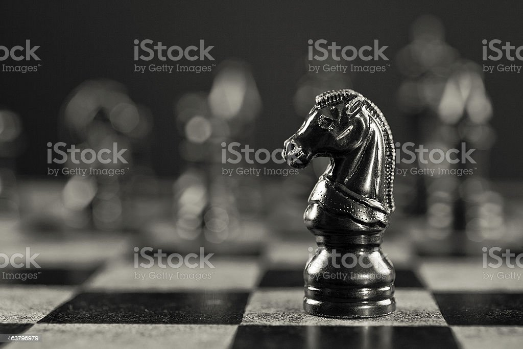 Black Knight stock photo