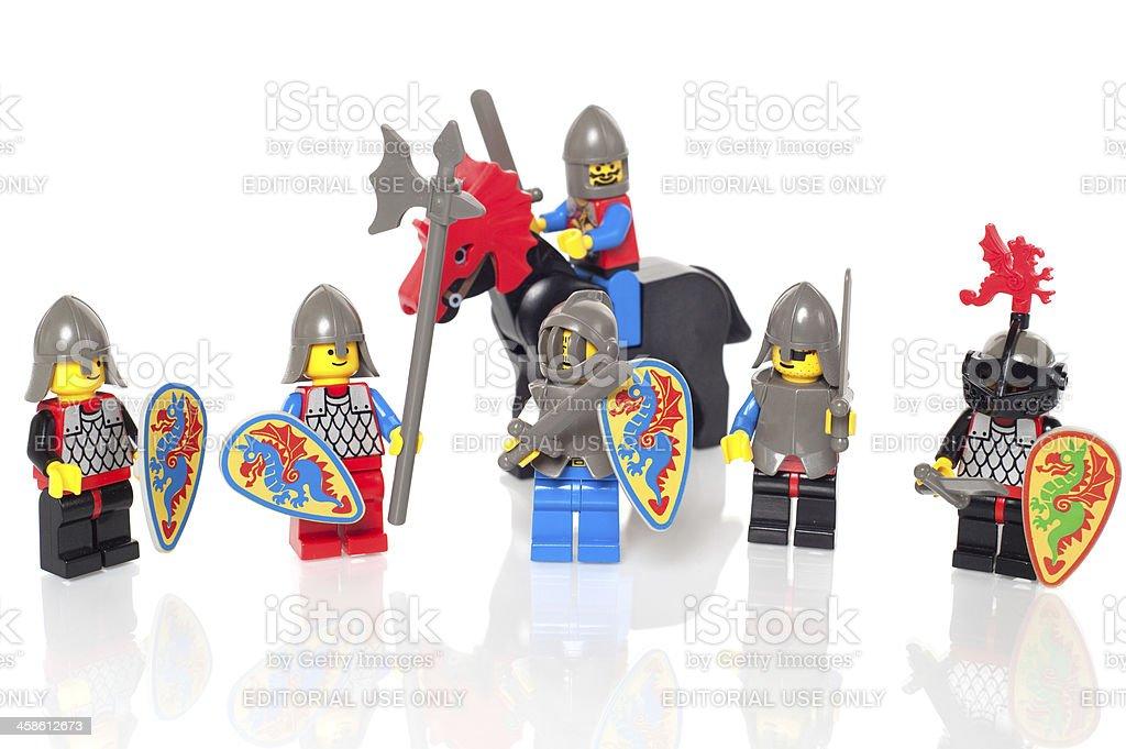 LEGO 1992 Black Knights Figures royalty-free stock photo