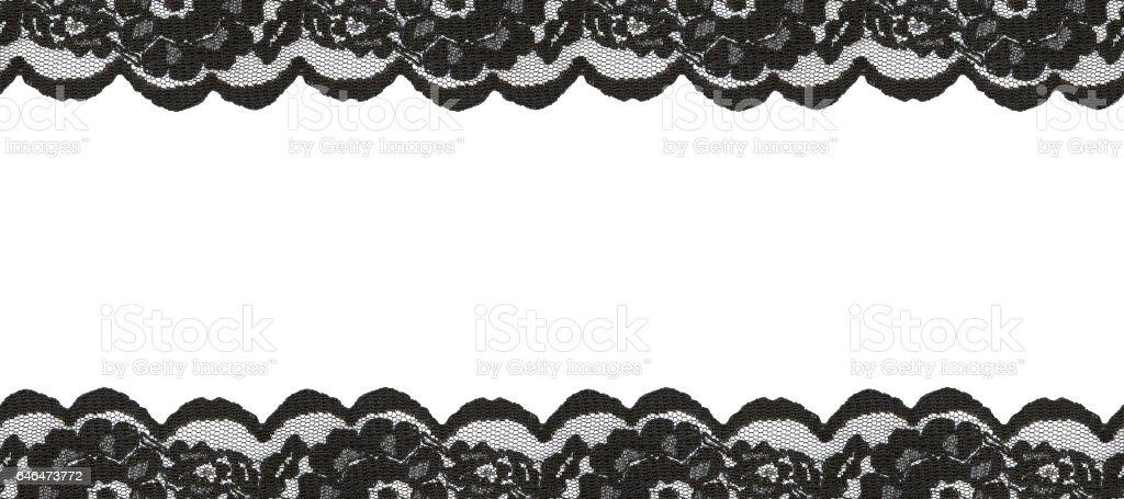 Black lace borders stock photo