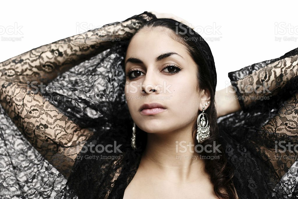 Black lace butterfly stock photo