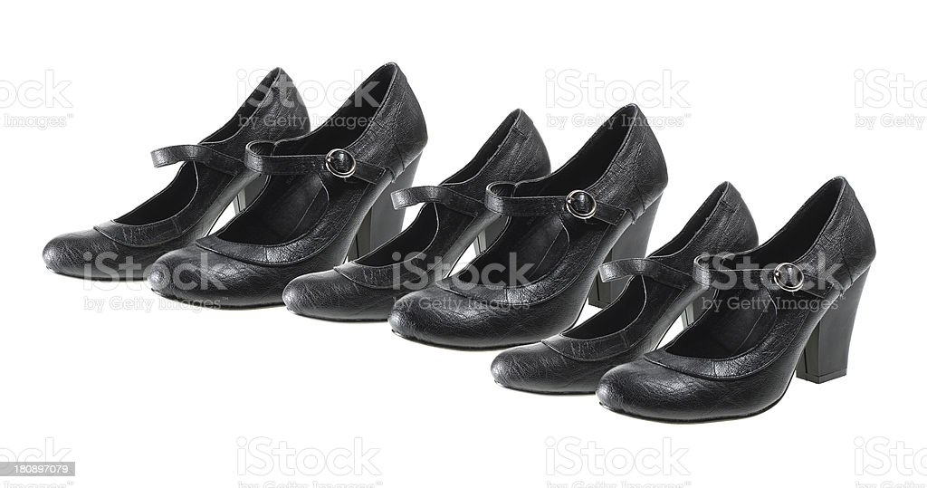 Black Lady's Shoes royalty-free stock photo