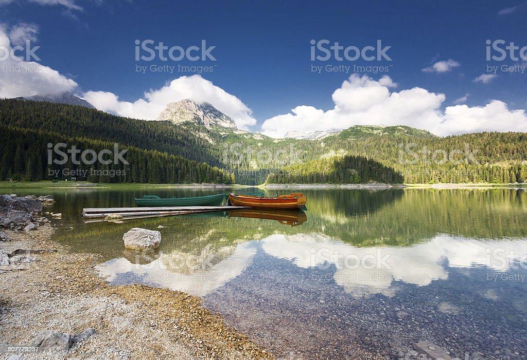 Black lake in Durmitor national park, Montenegro royalty-free stock photo