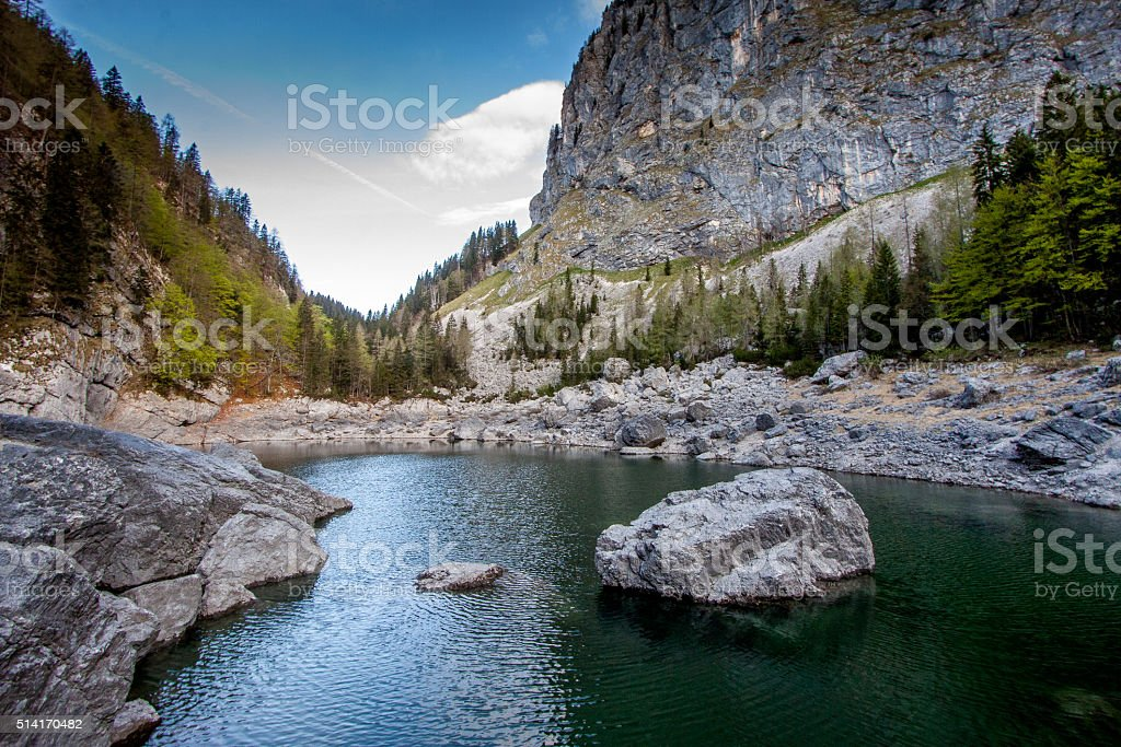 black lake stock photo