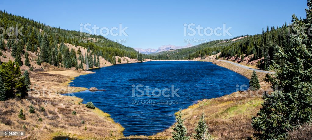 Black Lakes Resevoir on the Vail Pass in Vail, Colorado stock photo