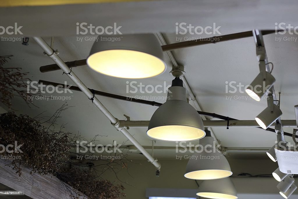 Black Lamp, old-style vector stock photo