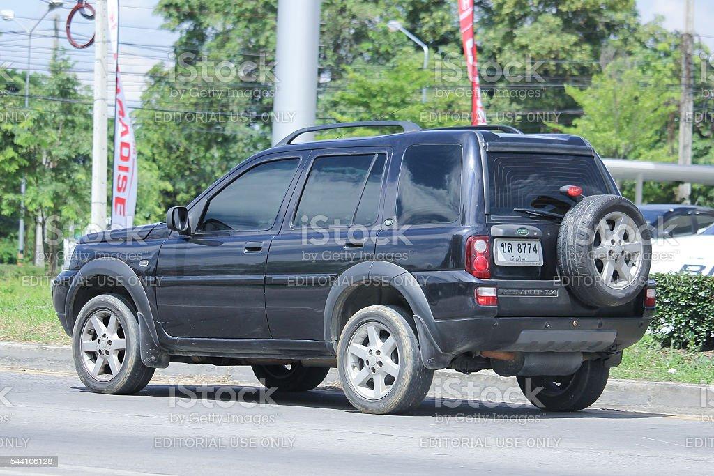 Black Land Rover Freelander 2. stock photo